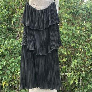ALEXIS black strapless dress